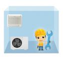 servis parapetná klimatizácia 1+1