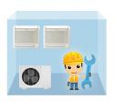 servis parapetná klimatizácia 1+2