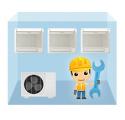 servis parapetná klimatizácia 1+3