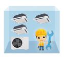 servis kazetová klimatizácia 1+3