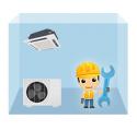 servis kazetová klimatizácia 1+1