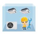 servis kazetová klimatizácia 1+2